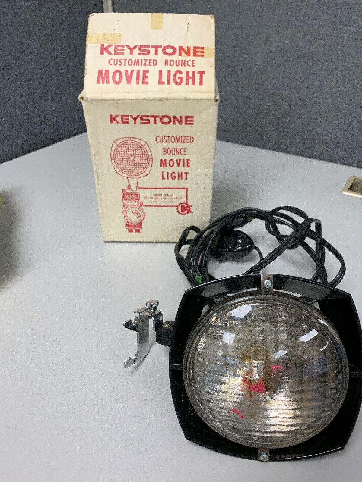 Vintage Keystone Customized Bounce Movie Light - original box model # KG-4 - $13.00