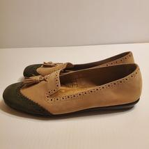 Aerosoles Winning Bet Brown & Dark Green Tassel Ballet Flat Suede shoes Sz 9M - $29.00
