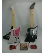 PS3 Guitar Hero III w/ 2 Frontman Nyko Wireless Guitars and Dongles Bund... - $113.24