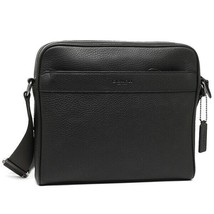 NWT Authentic Coach F24876 Charles Camera Shoulder men Bag Black Leather - £91.34 GBP