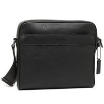 NWT Authentic Coach F24876 Charles Camera Shoulder men Bag Black Leather - $119.99