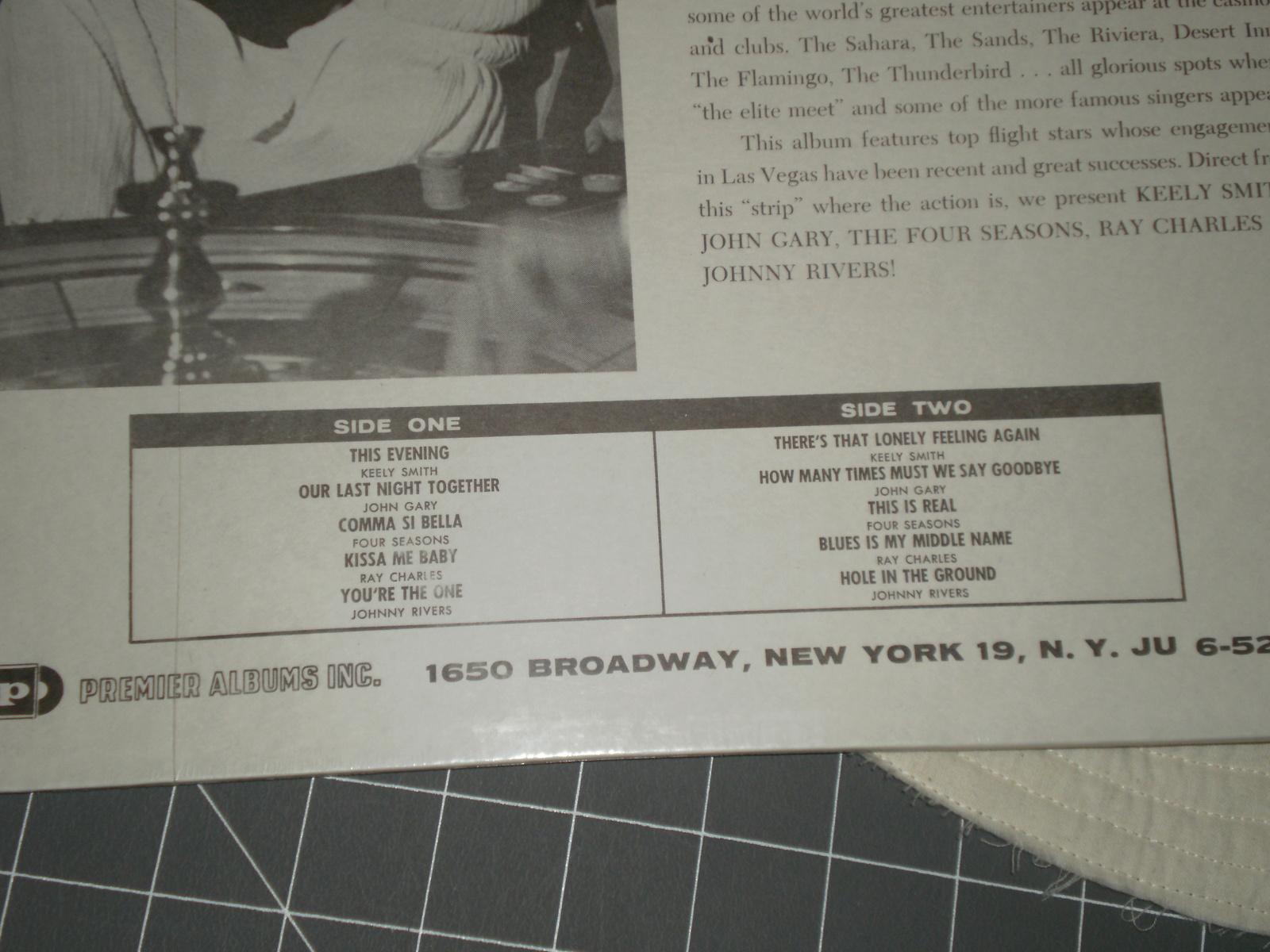 Las Vegas Winners record album various artists Johnny Rivers, Ray Charles,
