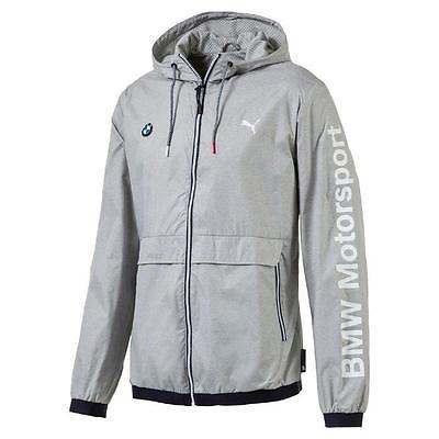 Puma Bmw Motorsport Men's Premium MSP Lightweight Jacket Heather Gray 57278003