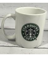 2006 Starbucks Coffee Mug Cup 10 oz White Green Siren Mermaid Logo 3 3/4... - $21.54