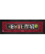 Personalized Centenary College Campus Letter Art Framed Print - $39.95