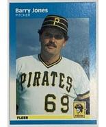 1987 Fleer #611 Barry Jones Pittsburgh Pirates Pitcher Baseball Card - $2.44