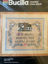 """Bucilla Counted Cross Stitch """"Life's Memories"""" #40305 New and Sealed 14"""" x 18"""" - $12.82"""