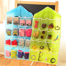 16 Pockets Hanging Wall Pocket Closet Storage Bag Shoe Tidy Jewelry Orga... - €2,91 EUR