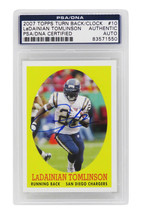 Ladainian Tomlinson Signed Chargers 2007 Topps TBTC Trading Card #10 - P... - $147.51