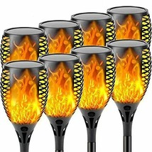 8-Pack Solar Lights Outdoor Decorative with Flickering Flame Solar Flame... - $95.87