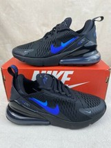 "New GS Nike Air Max 270 ""Just Do It"" Black Royal Size 5Y / 6.5W CT6016-001 - $128.65"