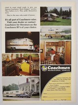 1976 Print Ad Coachmen Travel Trailers, Pickup Campers, Pop-Ups, Middleb... - $11.56