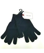 Adam Levine Womens Solid Black Knitted Soft Touchscreen Friendly Gloves NWT - $7.69