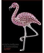 Eisenberg Ice Difficult to find Pink Flamingo Pin (Inventory #J947) - $90.00