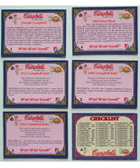 Campbell's Trading Cards set of 72 1995 Collect-A-Card - $6.99