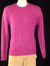 Polo Ralph Lauren Men's Crew Neck Sweater Fuschia 100% Cashmere Sz M Nwt $325 - $161.97