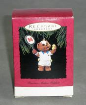 Hallmark Keepsake Ornament Practice Makes Perfect 1994 Christmas Puppy T... - $8.59