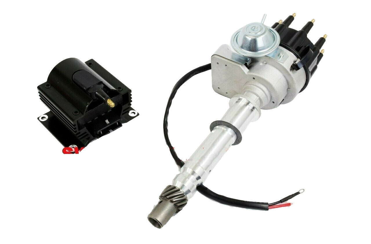 CHEVY SMALL BIG BLOCK Ready-To-Run BLK Small Cap Distributor W/50K Volt Coil 350