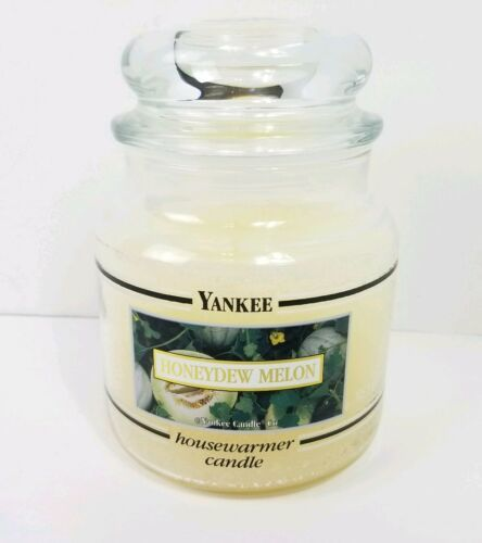 Primary image for Yankee Candle 14 oz Jar Honeydew Melon Black Band Box Label Discontinued Rare