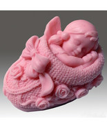 """You are buying 2 soap - """"3D Weaving shoe- Baby Girl"""" handmade Scented soap - $19.80"""
