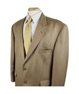 Stafford Executive Silk Wool Sport Coat Jacket 46R Gold Brown Stripe Two... - $36.99