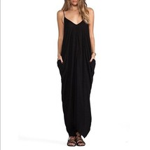 May & Maya Black V-Front & V-Back Maxi Dress Size: M