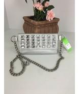 Michael Kors Waist Fanny Pack Clear Jewels Silver Chain Belt Pouch Bag B28 - $64.34