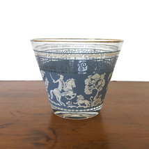 Mid Century Jeannette Hellenic Ice Bucket Wedgwood Blue Jasperware Glass - $31.68