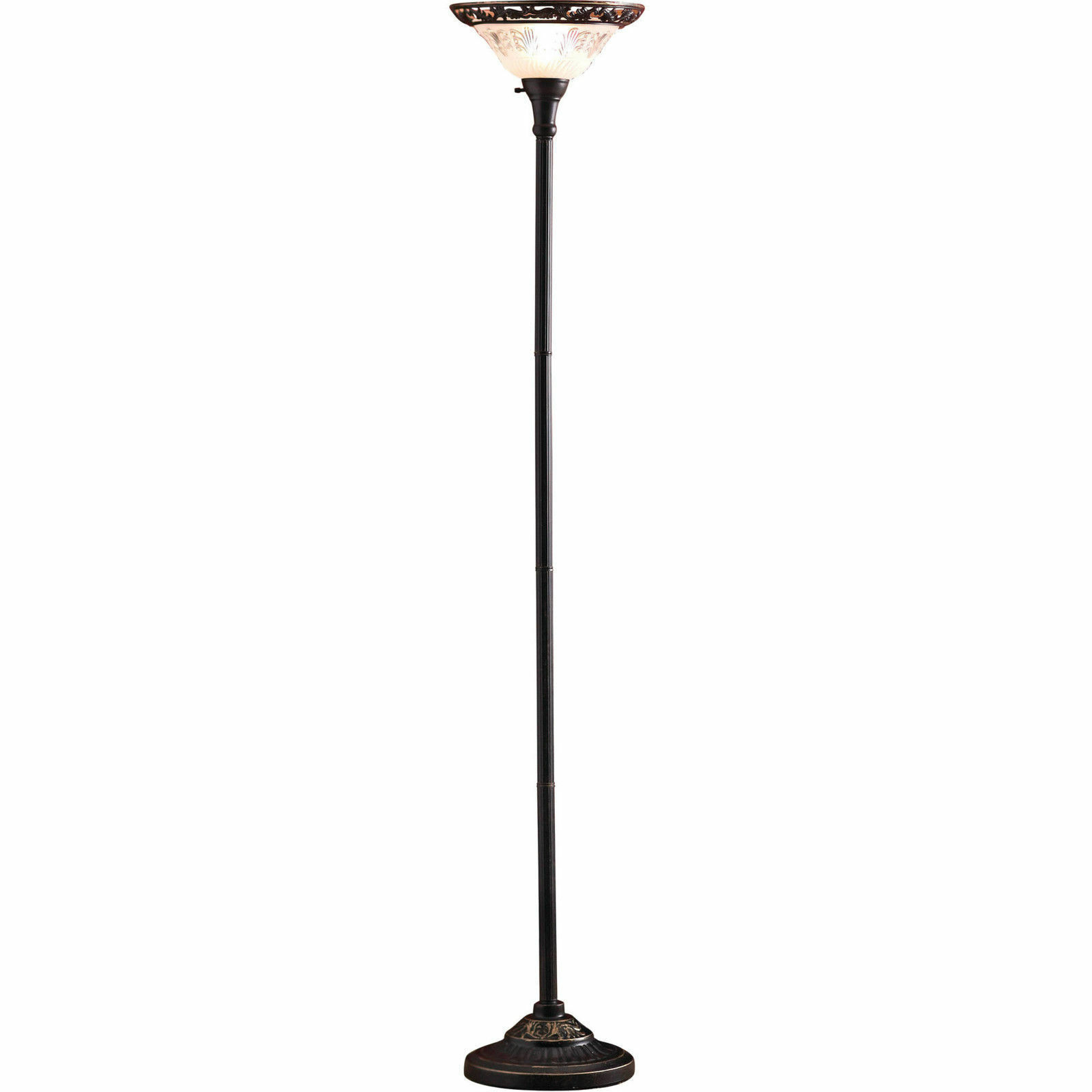 Victorian Tiffany Style Torchiere Lamp Torch Floor