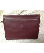Authentic, Cartier Burgundy, Leather Clutch- Purse  10.5in x 8in x 2in - $185.20