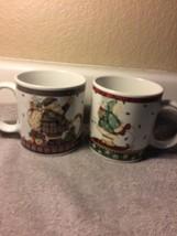 (2) SAKURA SLEDDING CHARACTERS  COFFEE MUGS / CUPS--CHRISTMAS---FREE SHI... - $399,26 MXN