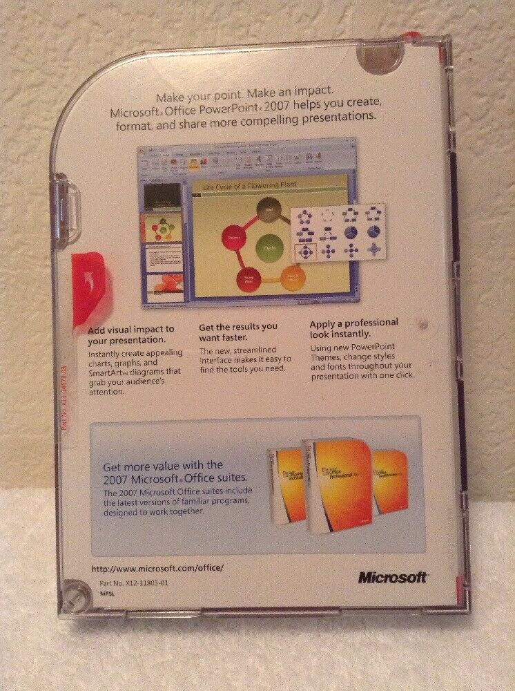 NEW Microsoft Office PowerPoint 2007 Version Upgrade with Product Key image 3