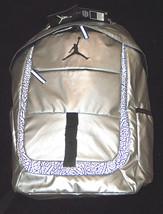 NWT $65 Nike Air Jordan Jumpman Silver & Black Laptop School Bag Backpac... - $51.15 CAD