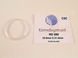 Watch Crystal For RADO 999 Plexi-Glass 33mm X 31.4mm Replacement Spare Part C5C - $19.27