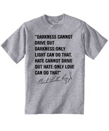 MARTIN LUTHER KING JR 6 - NEW COTTON GREY GREY TSHIRT - $22.67