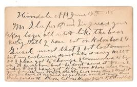 Scott UX5 HInsdale NH Fancy Cork Cancel Keg Beer Order by P. P. Woodbury 1880 image 2