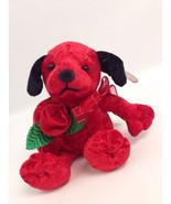 "Dandee Collector's Choice Red Plush Puppy Dog Rose Valentine Gift 9"" - $11.76"