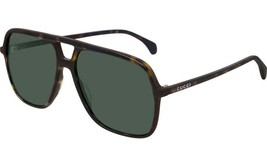 NEW Gucci Sunglasses GG0545S 002 Havana/Green Lens Square 58mm - $223.10