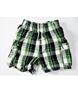 Garanimals Baby Boy Plaid Cargo Shorts 100% Cotton 12 Months 4 Pockets - $8.90