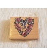 Romantic Wreath Rubber Stampede #A809E Wood Mounted Rubber Stamp NEW - $6.61