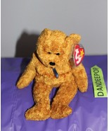 TY Retired Beanie Baby Fuzz Bear 1998 With Rare Tag - $13.85