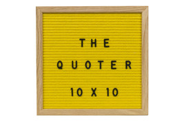 10X10 Yellow Felt Letter Board With 346 Letters, Numbers, Emoji and Symbols. Inc - $44.99