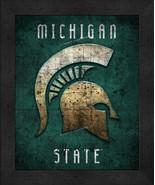 "Michigan State Spartans ""Retro College Logo Map"" 13x16 Framed Print  - $39.95"