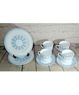 Set of 9 Martha Stewart Everyday Blue White Garden Trellis France Plates... - $24.74