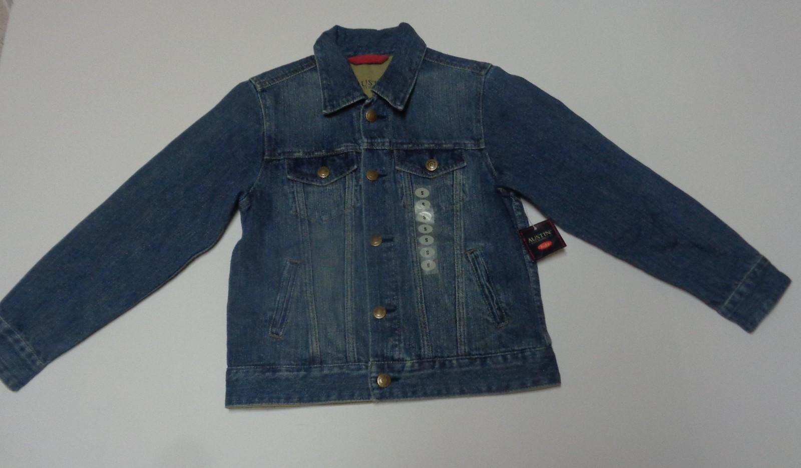 Blue Jean Jacket Austin Clothing Co. Junior Girl's SZ S Medium Wash NWT