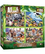 MasterPieces Animal Planet - 4-Pack 100pc Puzzles - $13.98