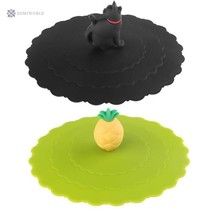 Anti-Dust Silicone Lids For Tea Cup Cover Silicone Leakproof Cup Lids He... - £2.35 GBP