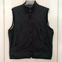 VTG 90s GAP Full Zip Lined Vest Men's SZ L Navy Blue Vented Rare - $26.72