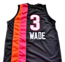 Dwyane Wade #3 Miami Floridians Basketball Custom Jersey Sewn Black Any Size image 2