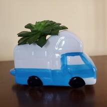 RV Planter with Succulent, Van Life Decor, Vehicle Plant Pot, Sedeveria Letizia image 4